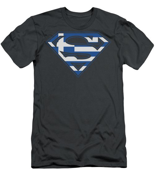 Superman - Greek Shield Men's T-Shirt (Athletic Fit)