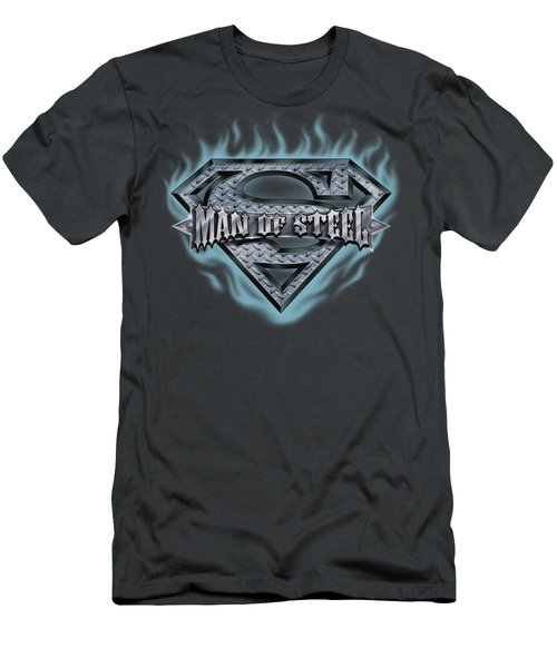 Superman - Man Of Steel Shield Men's T-Shirt (Athletic Fit)