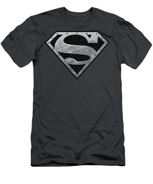 Superman - Super Metallic Shield Men's T-Shirt (Athletic Fit)