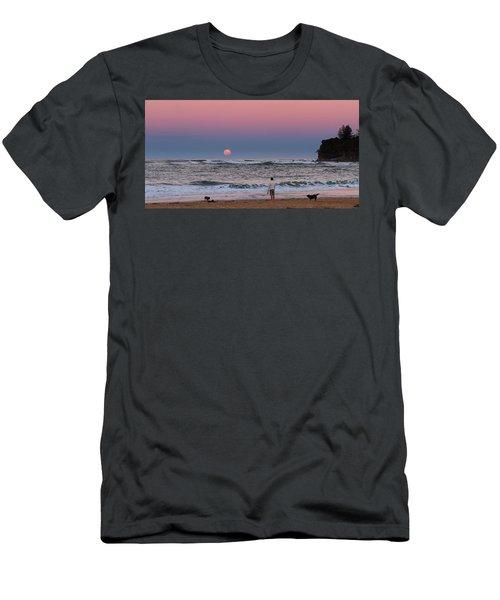 Supermoonrise Men's T-Shirt (Athletic Fit)