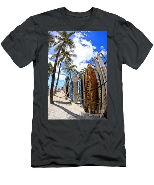 Surf And Sun Waikiki Men's T-Shirt (Athletic Fit)
