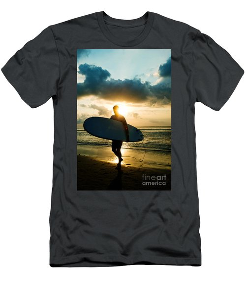 Men's T-Shirt (Athletic Fit) featuring the photograph Surfer by Yew Kwang