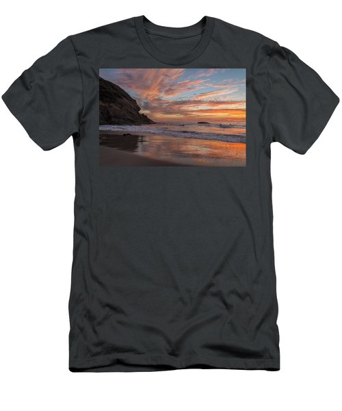 Surfers And Sunset At Strands Beach Dana Point Men's T-Shirt (Athletic Fit)