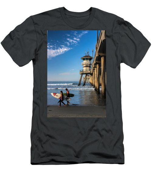 Surf's Up Men's T-Shirt (Slim Fit) by Tammy Espino