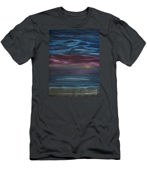 Men's T-Shirt (Slim Fit) featuring the painting Surreal Sunset by Ian Donley