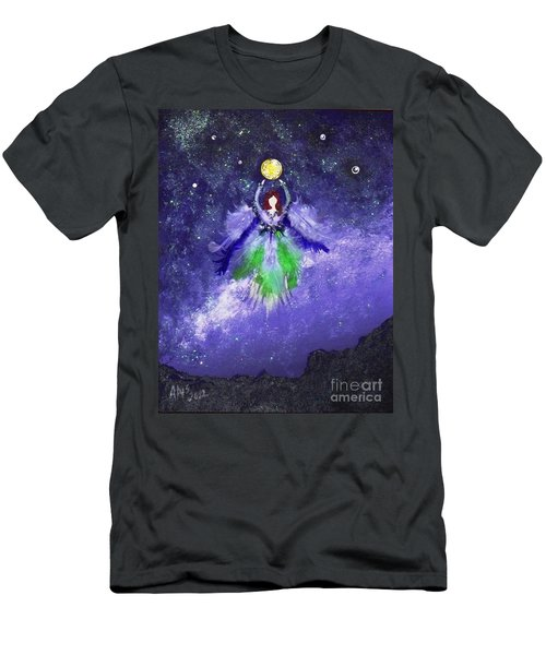 Men's T-Shirt (Slim Fit) featuring the painting Survivor by Alys Caviness-Gober