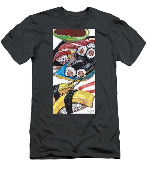 Sushi Bar Painting Men's T-Shirt (Athletic Fit)