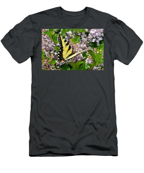 Swallowtail On Lilacs Men's T-Shirt (Athletic Fit)