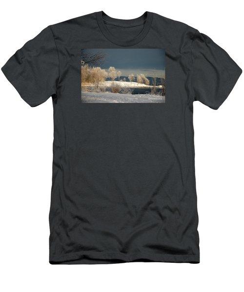 Swans On A Frosty Day Men's T-Shirt (Slim Fit) by Randi Grace Nilsberg