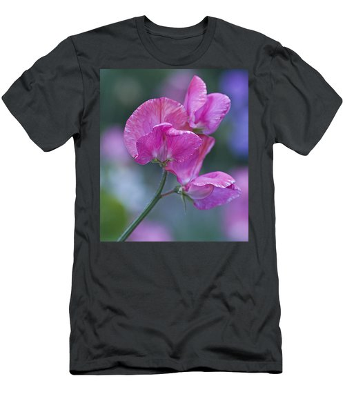 Sweet Pea In Pink Men's T-Shirt (Athletic Fit)