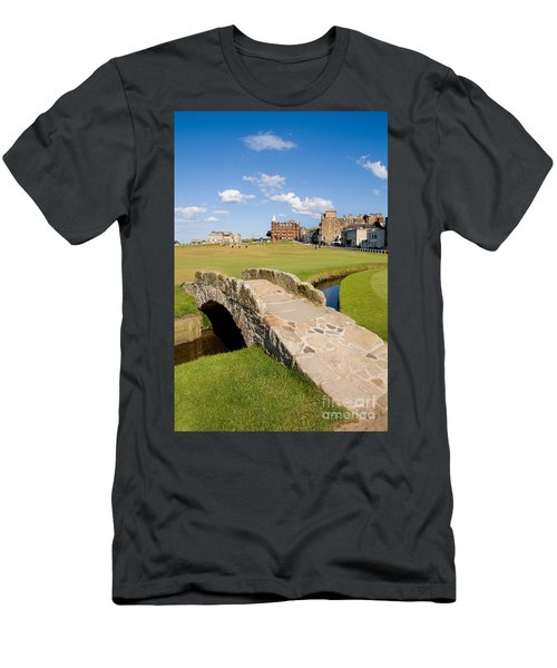 Swilcan Bridge On The 18th Hole At St Andrews Old Golf Course Scotland Men's T-Shirt (Athletic Fit)