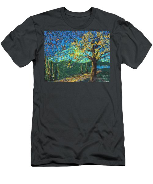 Swing By The Road Men's T-Shirt (Athletic Fit)