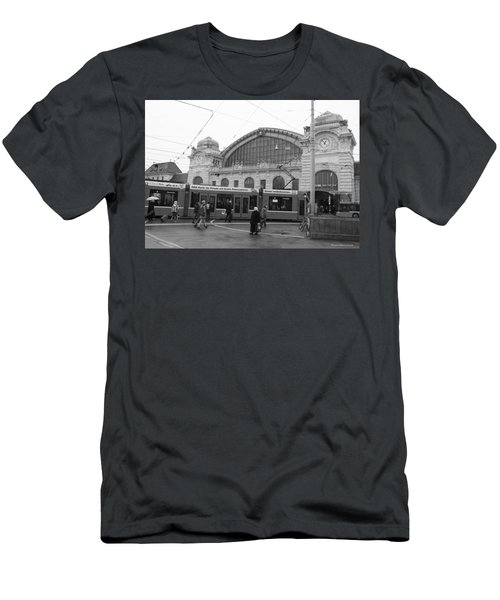 Swiss Railway Station Men's T-Shirt (Athletic Fit)
