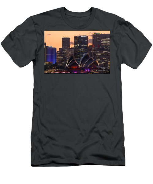 Sydney At Sunset Men's T-Shirt (Slim Fit) by Matteo Colombo