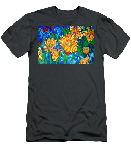 Symphony Of Sunflowers Men's T-Shirt (Athletic Fit)