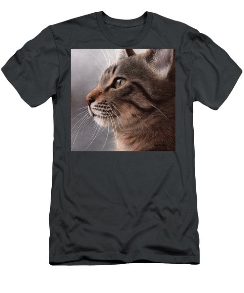 Tabby Cat Painting Men's T-Shirt (Athletic Fit)