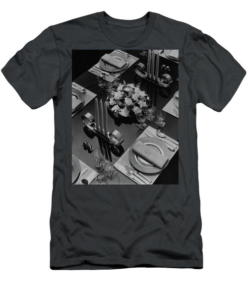 Table Setting Men's T-Shirt (Athletic Fit)