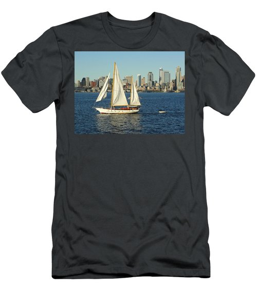 Men's T-Shirt (Slim Fit) featuring the photograph Mind If I Tag Along by Natalie Ortiz