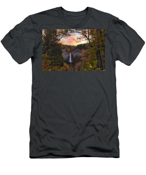 Taughannock Falls Autumn Sunset Men's T-Shirt (Athletic Fit)