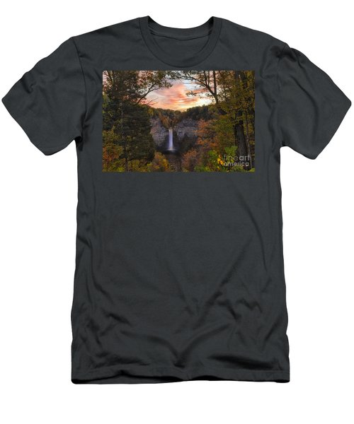 Taughannock Falls Autumn Sunset Men's T-Shirt (Athletic Fit)