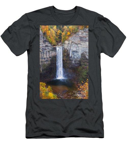Taughannock Falls In Autumn Men's T-Shirt (Athletic Fit)