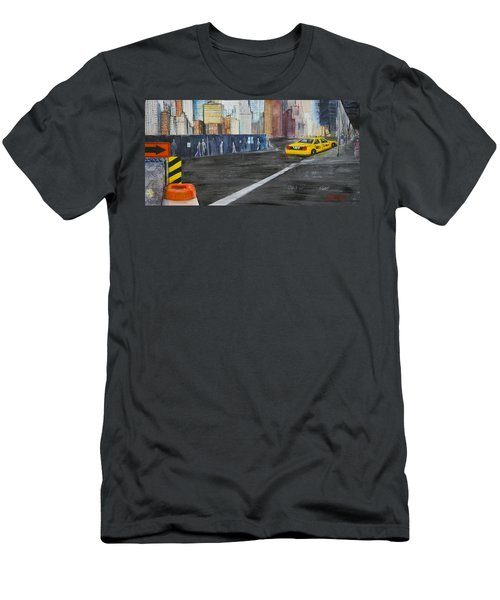 Taxi 9 Nyc Under Construction Men's T-Shirt (Athletic Fit)