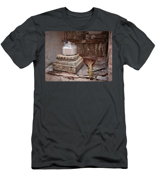 Teapot And Broom Men's T-Shirt (Athletic Fit)
