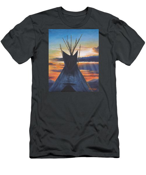 Teepee At Sunset Part 1 Men's T-Shirt (Athletic Fit)