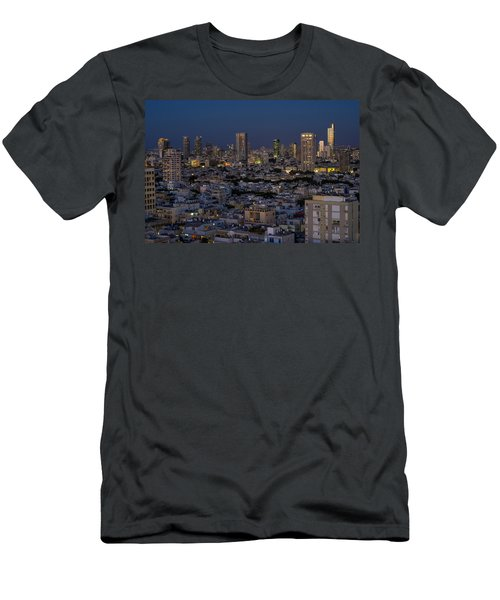 Tel Aviv At The Twilight Magic Hour Men's T-Shirt (Athletic Fit)