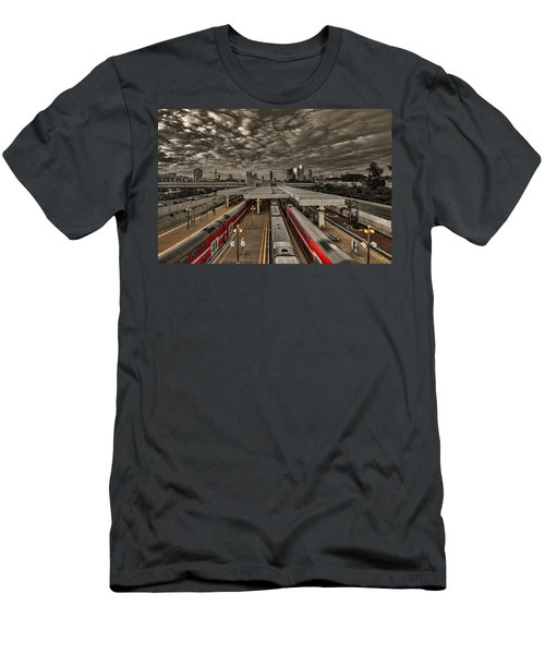 Tel Aviv Central Railway Station Men's T-Shirt (Athletic Fit)