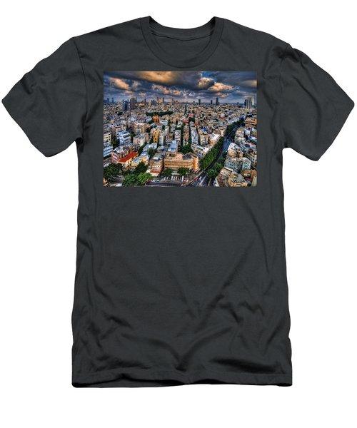 Tel Aviv Lookout Men's T-Shirt (Slim Fit) by Ron Shoshani