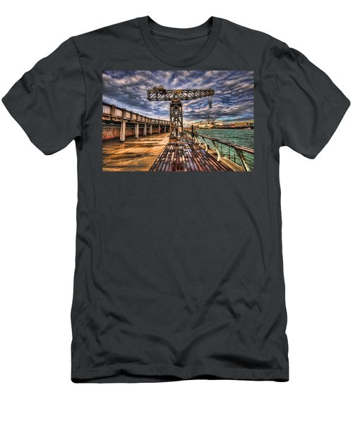 Tel Aviv Port At Winter Time Men's T-Shirt (Athletic Fit)