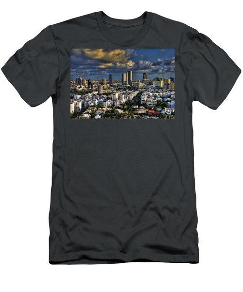 Tel Aviv Skyline Fascination Men's T-Shirt (Athletic Fit)