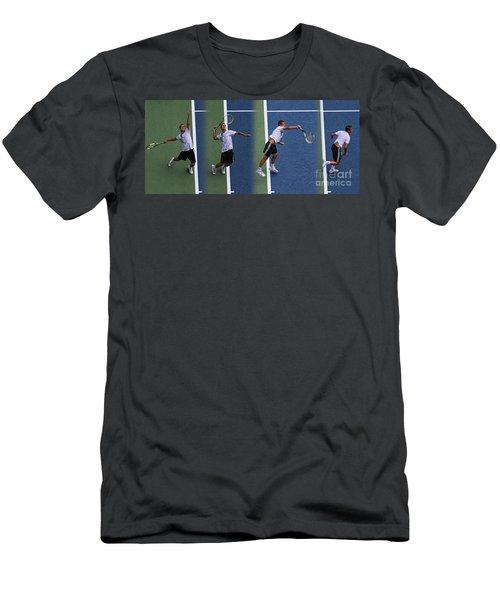 Tennis Serve By Mikhail Youzhny Men's T-Shirt (Athletic Fit)