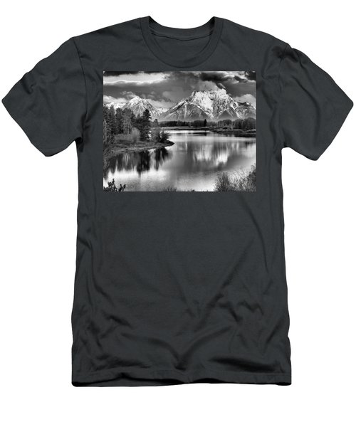 Tetons In Black And White Men's T-Shirt (Athletic Fit)