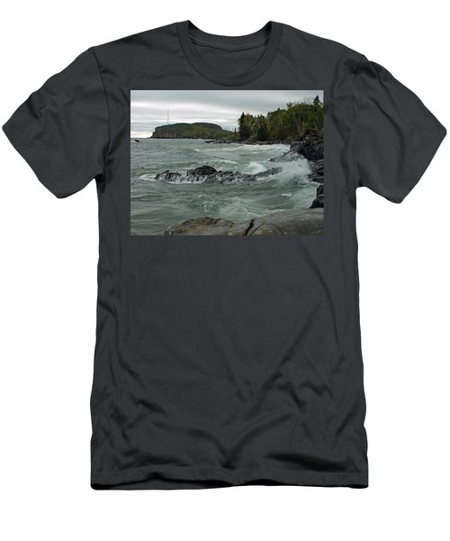 Men's T-Shirt (Athletic Fit) featuring the photograph Tettegouche State Park by James Peterson