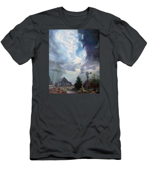 Texas Thunderstorm Men's T-Shirt (Slim Fit) by Karen Kennedy Chatham