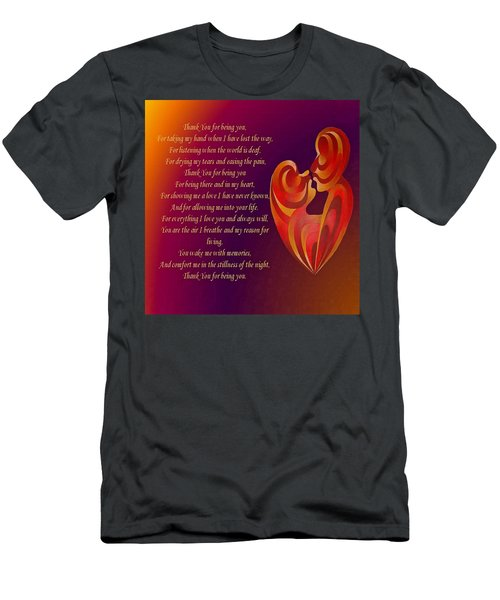 Thank You For Being You Poetry  Men's T-Shirt (Athletic Fit)