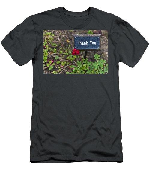 Thank You Men's T-Shirt (Slim Fit) by Maj Seda