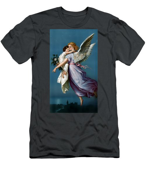 The Angel Of Peace For I Phone Men's T-Shirt (Slim Fit) by Terry Reynoldson