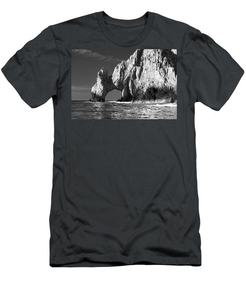 The Arch Cabo San Lucas In Black And White Men's T-Shirt (Athletic Fit)