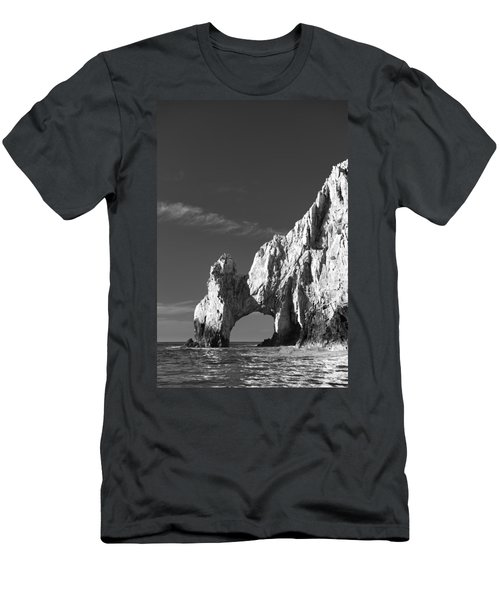 The Arch In Black And White Men's T-Shirt (Athletic Fit)