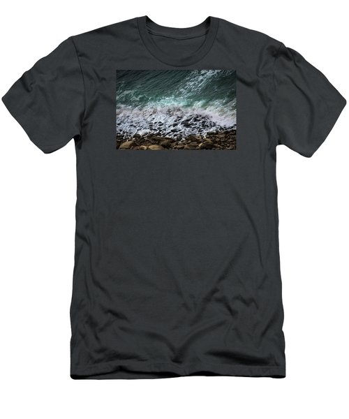 Men's T-Shirt (Slim Fit) featuring the photograph The Arm Of Sea And Land by Edgar Laureano