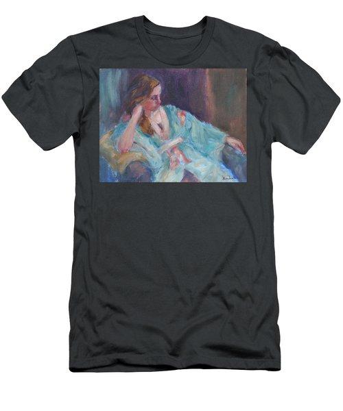 Inner Light - Original Impressionist Painting Men's T-Shirt (Slim Fit) by Quin Sweetman