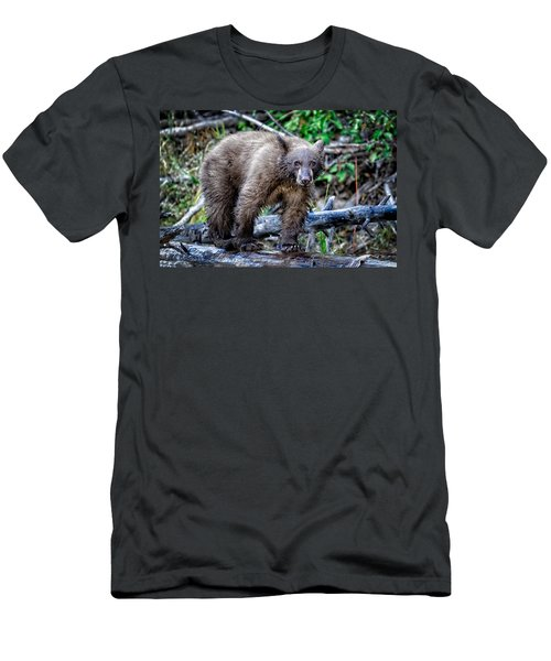 Men's T-Shirt (Slim Fit) featuring the photograph The Balance Beam by Jim Thompson