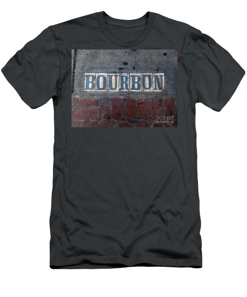 The Bourbon Street Sign Men's T-Shirt (Slim Fit) by Joseph Baril