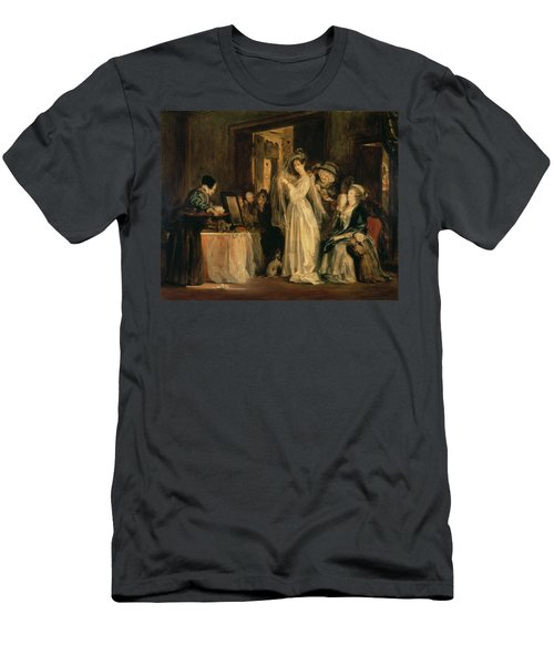 The Bride At Her Toilet On The Day Of Her Wedding, 1838 Oil On Canvas Men's T-Shirt (Athletic Fit)