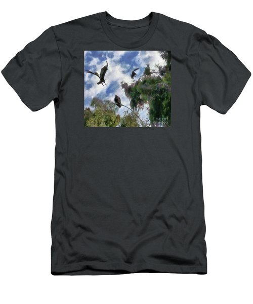 The Buzzard Tree Men's T-Shirt (Slim Fit) by Rhonda Strickland