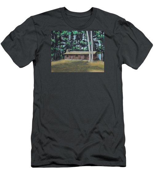 The Cabin Men's T-Shirt (Slim Fit) by Jeanne Fischer