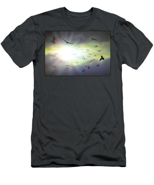 The Call - The Caw - Use Red/cyan Filtered 3d Glasses For Viewing Men's T-Shirt (Athletic Fit)
